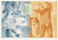 canfield hatfield (6 works) by david salle