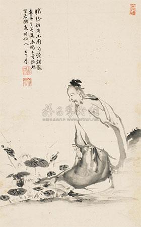 观荷图 by zhang daqian