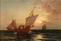 sunset sailing by b. kreutzer