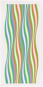 green dominance by bridget riley