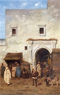 marché à tanger by alfred hubert