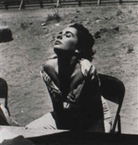 elizabeth taylor, sunning herself... by sid avery