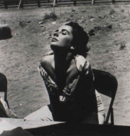 elizabeth taylor, sunning herself... by sid avery