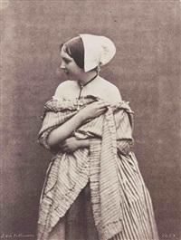 jeune femme aux épaules dénudées by julien vallou de villeneuve