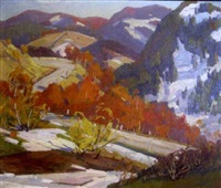 october in vermont by charles curtis allen