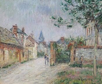 la rue de village saint cyr du vaudreuil ou le village by gustave loiseau