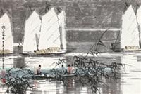 湖上清风图 by xu xi