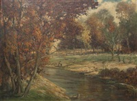 house by a stream, brown county, ind. by miles jefferson early