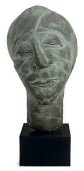untitled (bronze head) by eva aeppli