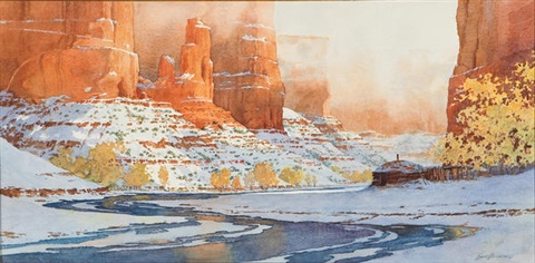 navajo winter hogan by david allen halbach
