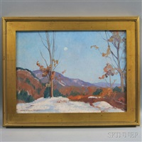 moonlit winter landscape by john newton howitt