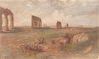 aquädukt in der campagna di romana by josef selleny