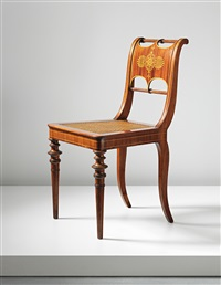 rare and important salon chair by karl friedrich schinkel