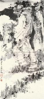 深山循古图 (landscape) by jiang xuanyi