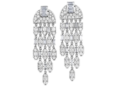 ear pendants pair by cartier