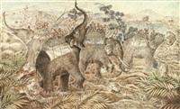la chasse au tigre à dos d'éléphant by michel de goeye