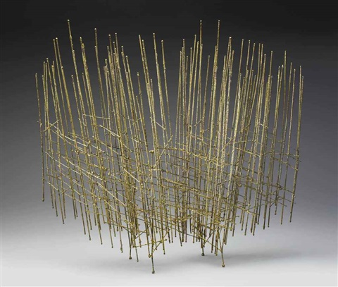 untitled small screen construction by harry bertoia