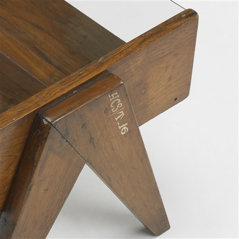 coffee table from chandigarh india by pierre jeanneret