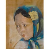 jeune fille cochinchinoise (a teenage cochin) by huu duyet nguyen