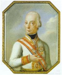 bildnis des kaisers franz i. in uniform mit dem orden von goldenen flies by leopold lieb