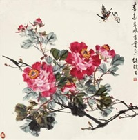 春意春风富贵花 (butterfly and peony) by liu jiying