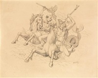 cavaliers by alfred louis courmes