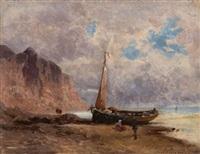 barque sur un littoral by eugénio amus