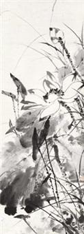墨荷 镜片 水墨纸本 by tang yun