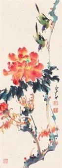 牡丹双雀 by zhao shaoang
