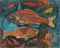 giant carp (+ six goldfish; 2 works) by anne e. christopherson