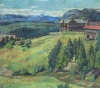 norsk bjerglandskab, sommer by severin grande