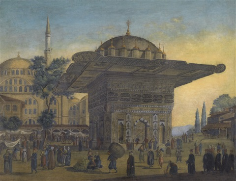 tophane fountain constantinople by antoine ignace melling