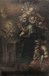 standbild des heiligen franz xaver in vision by johann achert