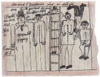 das sind 5 personen und ein steht auf einer leiter by franz gableck