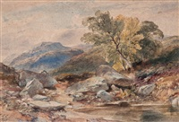 a pool in a highland landscape by william leighton leitch