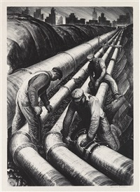 four pipelines by james e. allen