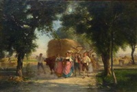 le retour de la moisson by armand hubert simon leleux
