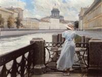 sur le quai de fontanka à saint petersbourg by dmitri mikhailov