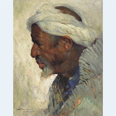 portrait of an arab by carlos abascal