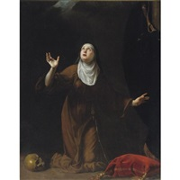 a nun saint by simone pignoni