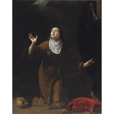 a nun saint by simone pignoni