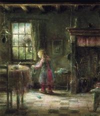 enfant dans un intérieur by herman jacobs