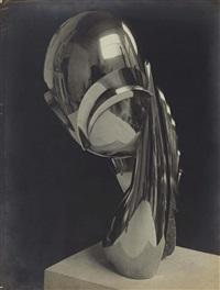 melle pogany ii, vue de trois-quarts, bronze poli by constantin brancusi