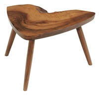 free-edge tripod footstool by george nakashima