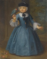 portrait of a girl of the de knyff family, of anvers and brussels by flemish school-antwerp (18)