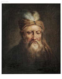 portrait of a gentleman in a turban by jan andreas lievens the younger