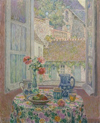 la table sur la cour by henri le sidaner