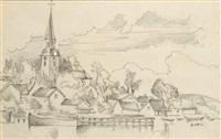 église en bord de rivière by andré lhote