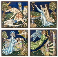 the death of abel, the brazen serpent, the sacrifice of isaac, and the angel of the passover (4 works) by arthur joseph gaskin