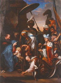 the adoration of the magi by jacob andries beschey